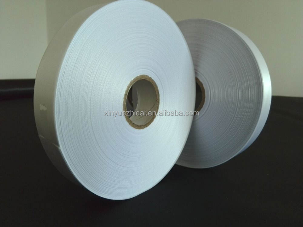 Putih satin label pita 6 inch satin ribbon