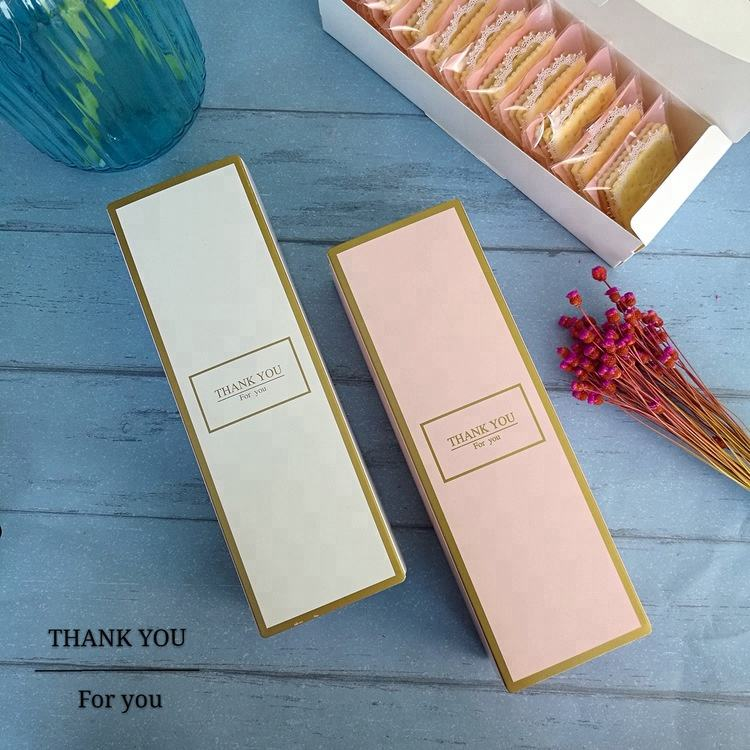 New design food packaging box for cake and pie luxury cookies box packaging
