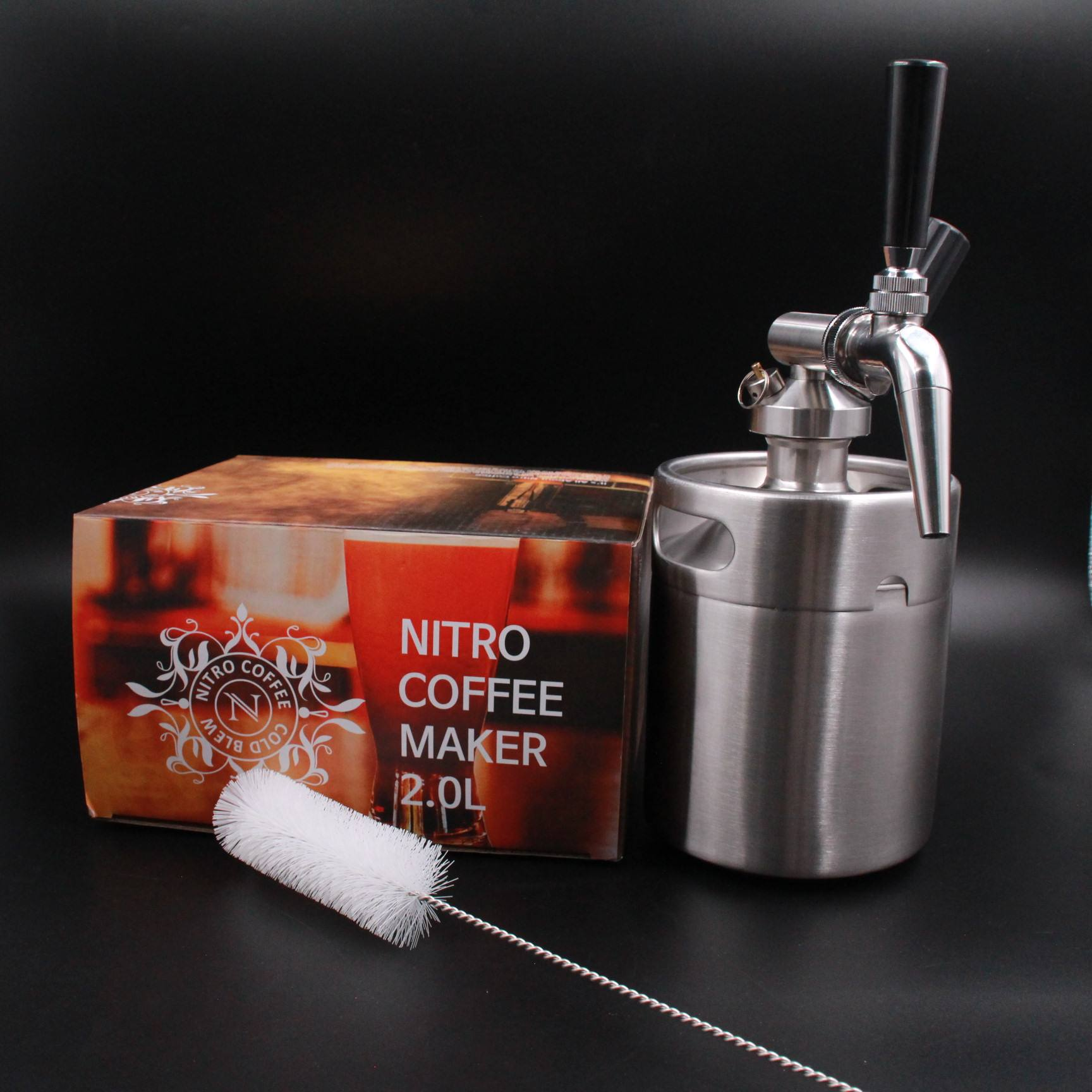 stainless steel customized coffee bean barrel