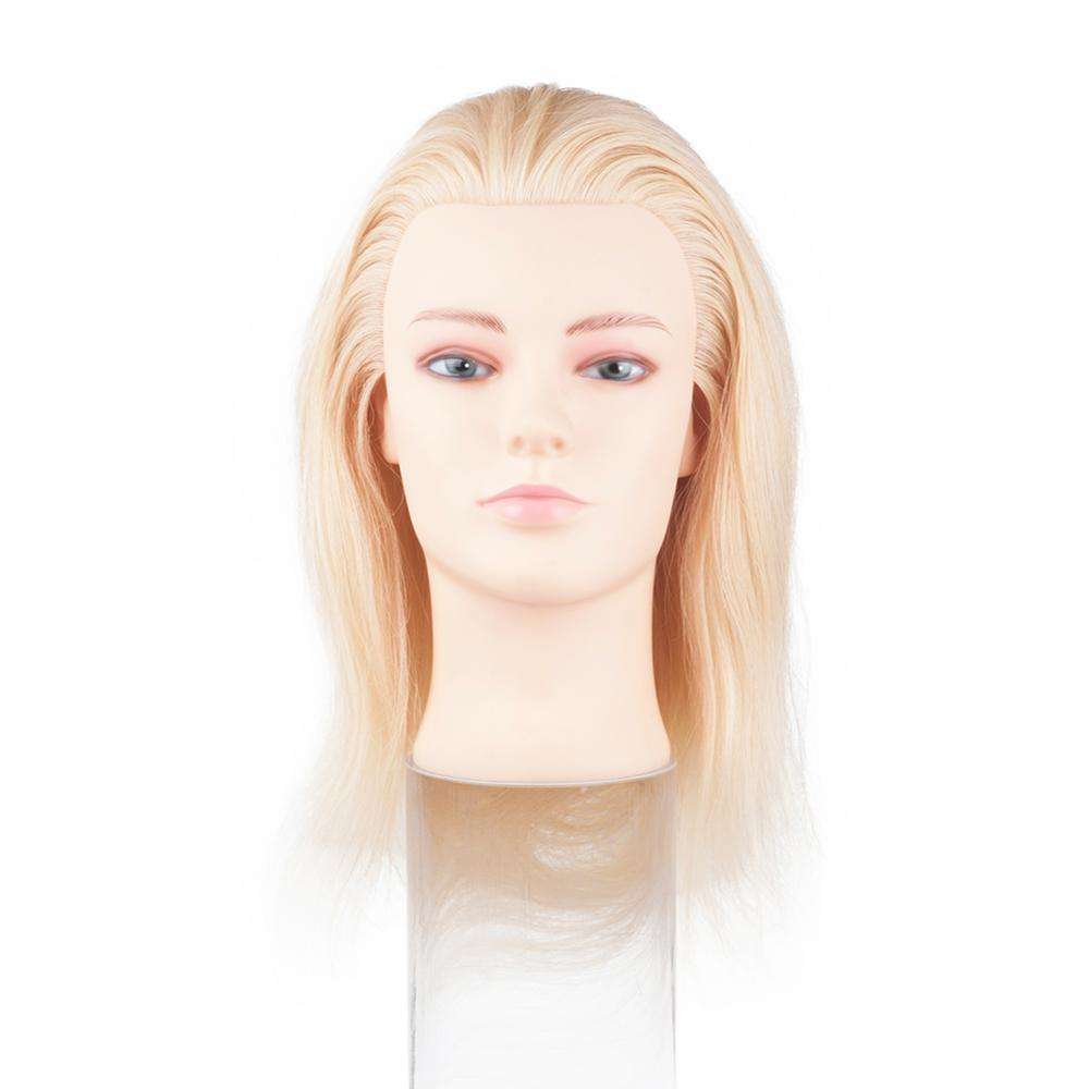 100% Human Hair Blonde Training Head Mannequin Head with hair for hairdresser