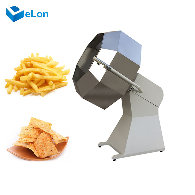 Automatic Snack Food Seasoning Machine potato chips nut seasoing machine cheap price