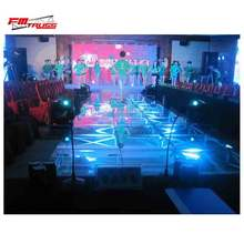 Stage with 19mm armorplate glass portable stage platform mobile scene