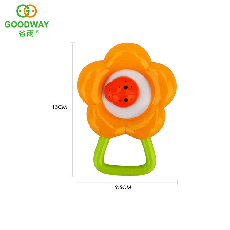 Funny Cartoon Flower Baby Bed Hand Rattle Toys