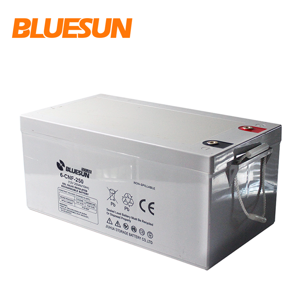 Bluesun Pv High Efficiency AGM Gel 12V 100Ah 250 Ah Rocket Battery