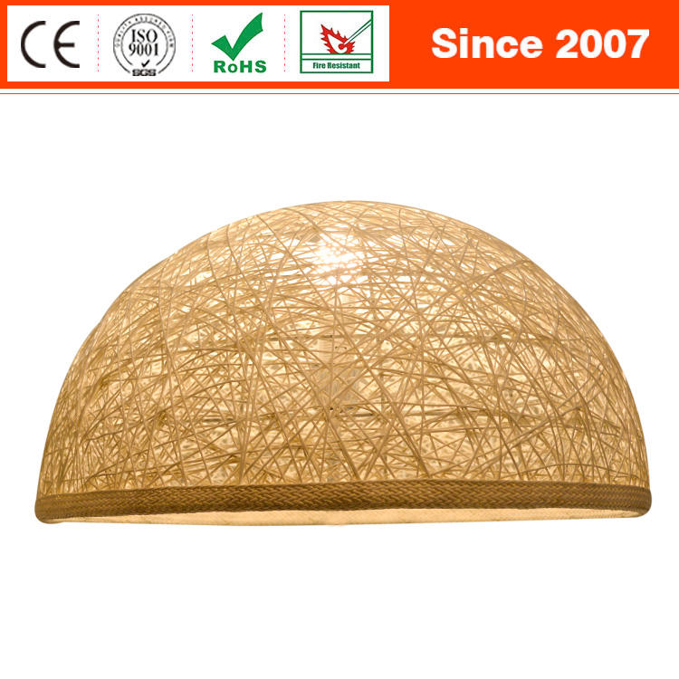 Nordic Nest-Shaped Rattan Jigsaw Decorative UFO Led Ceiling Lamp