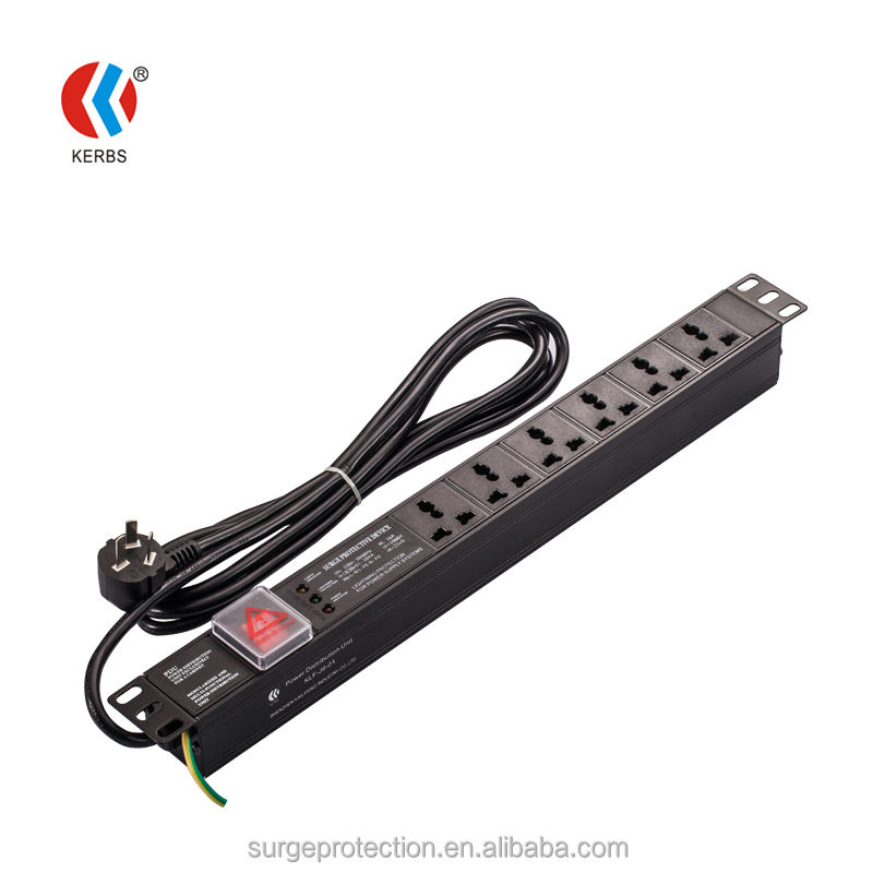 19 ''IP20 6/8/10/15 Outlets Power Overspanningsbeveiliging Rack PDU US/UK/australië/EU plug Power Socket