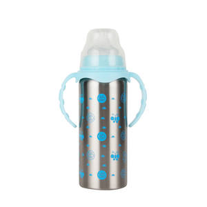 240ml BPA Free Stainless Steel Feeding Supplies Baby Feeding Bottle 360 Sippy cups