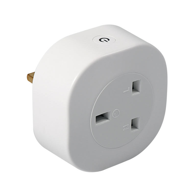 220V Homekit Iot 3 Pin Multi WiFi Smart Wall Plug Socket UK, OEM Design 3-Pin Power Plug with Energy Monitoring