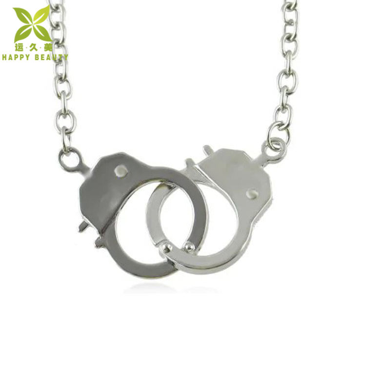 Handcuffs Cop Police Cuffs NEW Handcuff Charm Necklace 925 Sterling Silver