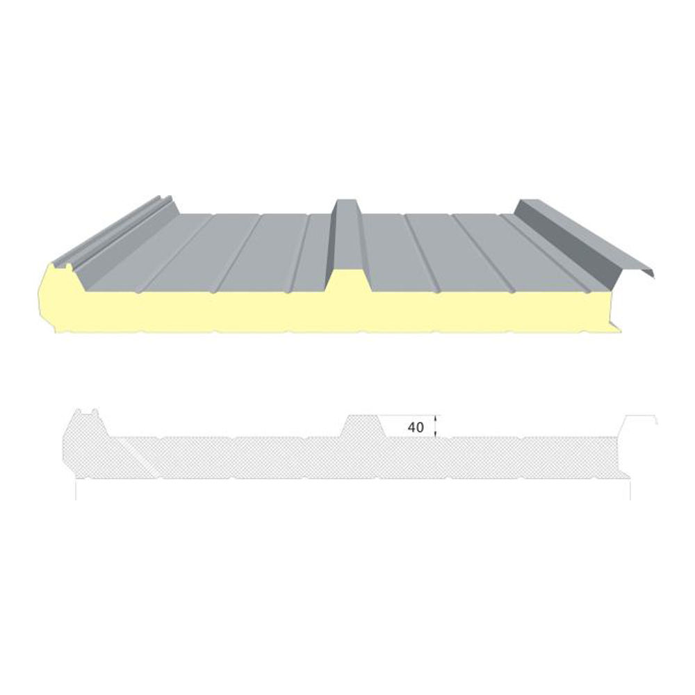insulated steel facing PU roofing panels