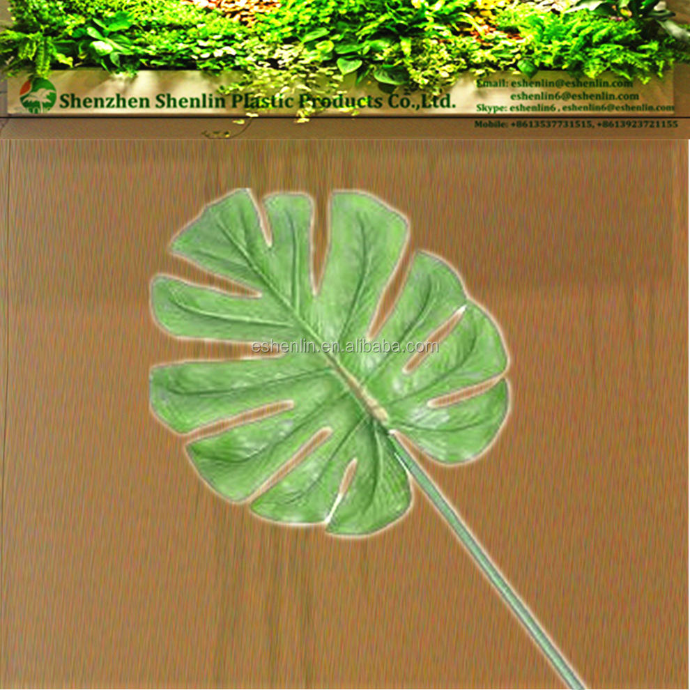 Adorable Medium Split Artificial Philodendron vibrant Leaf Spray in Green