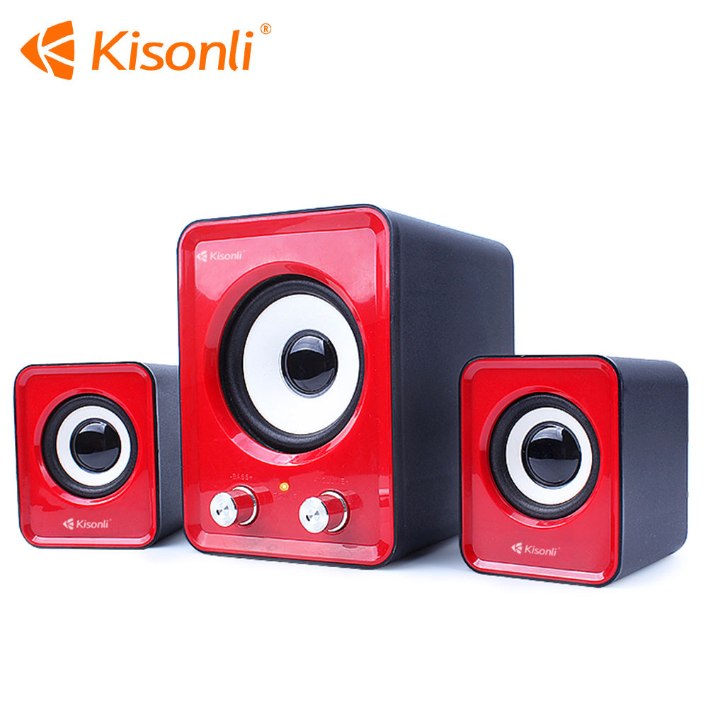 Usb Multimedia Stereo Speaker 2.1 Untuk PC Desktop Laptop Komputer, Eksternal Kotak Bass Speaker Speaker Keras 3.5mm Dengan Subwoofer