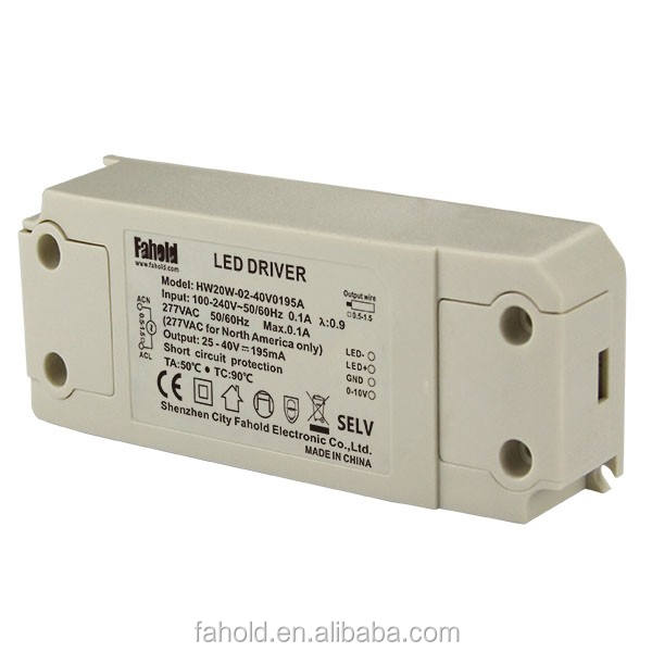 For ceiling lamp constant current factory price plastic case 350ma 20w led driver