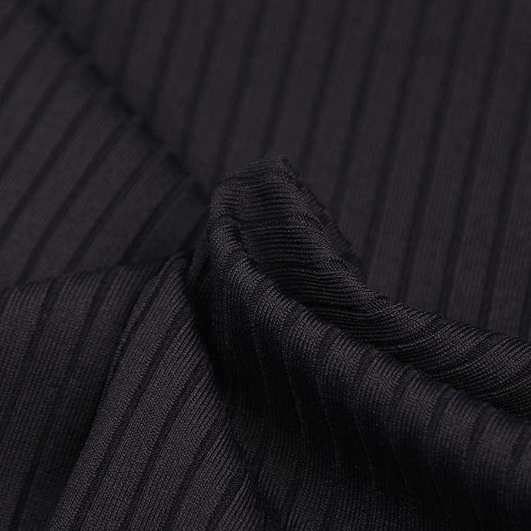 Tuỳ chỉnh thiết kế đen sườn dệt kim 95% nylon 5% spandex vải cho thể thao
