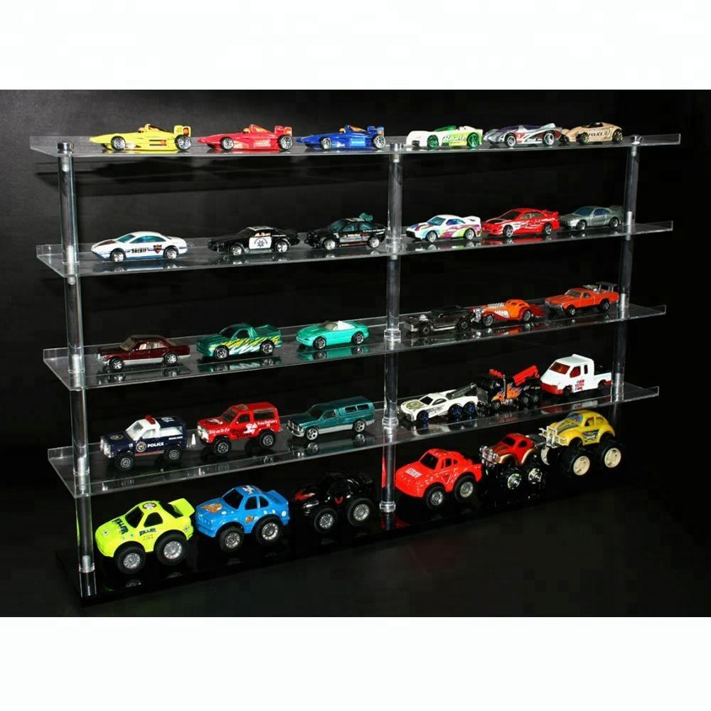4 Layer Acrylic Mini Toy Car Collectible Display Shelf
