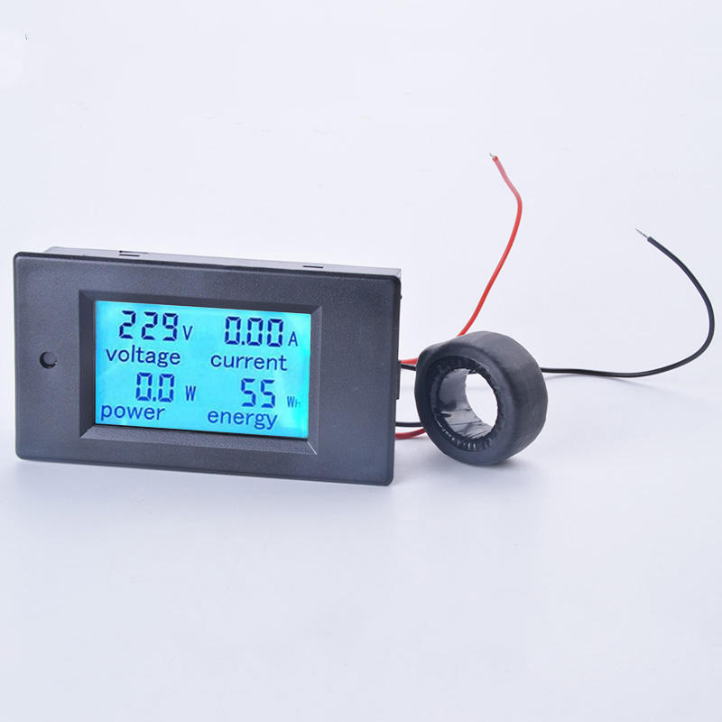 Digital LCD Display AC Voltage Meters AC80-260V 20A 100A Voltmeter Ammeter Voltage Current Power Energy Multimeter Panel Tester