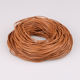 2mm round brown hollow leather cord 2mm