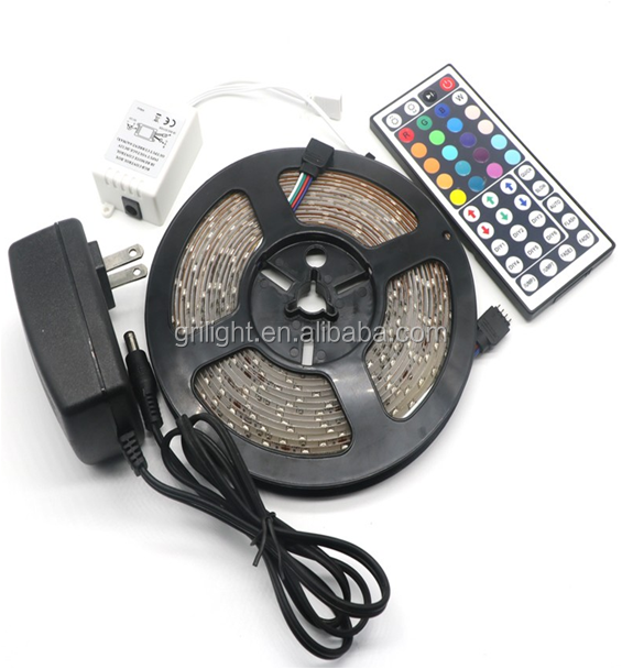Full color new smd 5050 rgb led strip sets with led connector