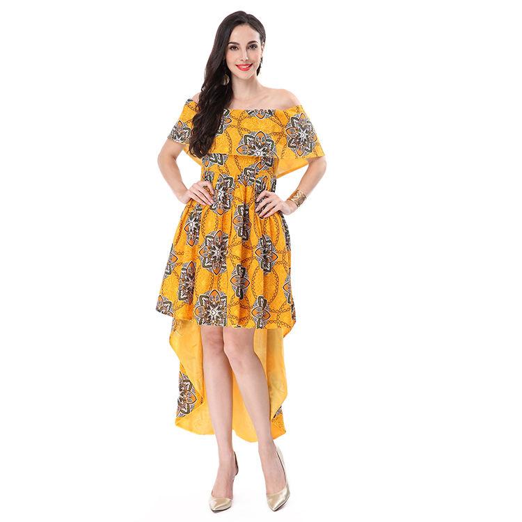 Professional new fashion women clothing printed sexy long summer dress