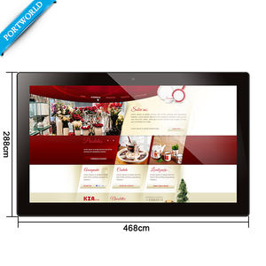 18 inch lcd digital signage display, große bildschirm Android touchscreen poe tablet in wand