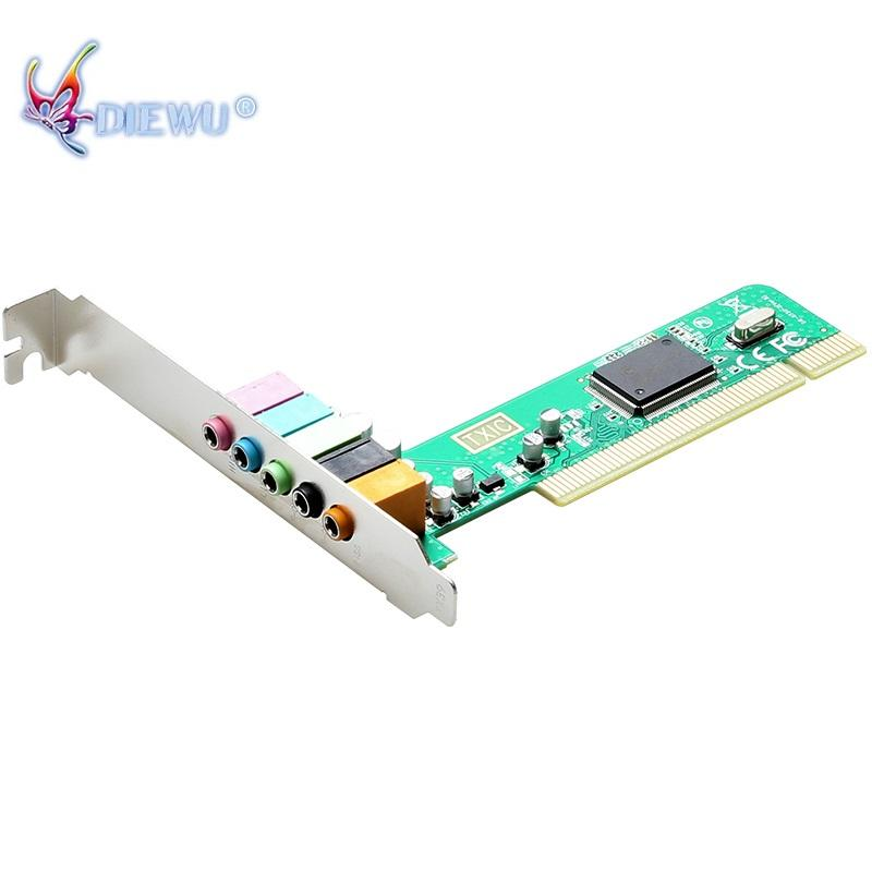 High Quality virtual 32-bit PCI 6 CH Channel pci sound card driver pci 6ch sound card