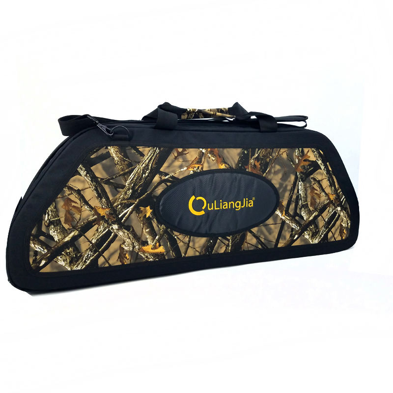 Ouliangjia Camo Semi-rigid Compound Bow Case and Compound Bow Bag Archery Compound Hunting Bow