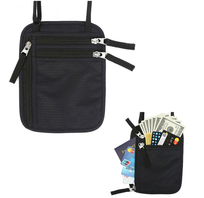 Fashion Custom Travel Security Onder Kleding Hals Rfid Portemonnee Geld Paspoorthouder <span class=keywords><strong>Document</strong></span> Pouch