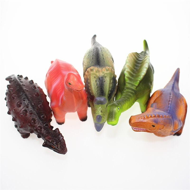 10 Designs 25CM Slow Rising Color Printed Simulation Squishy mini dinosaur Anti Stress Reliever Toys