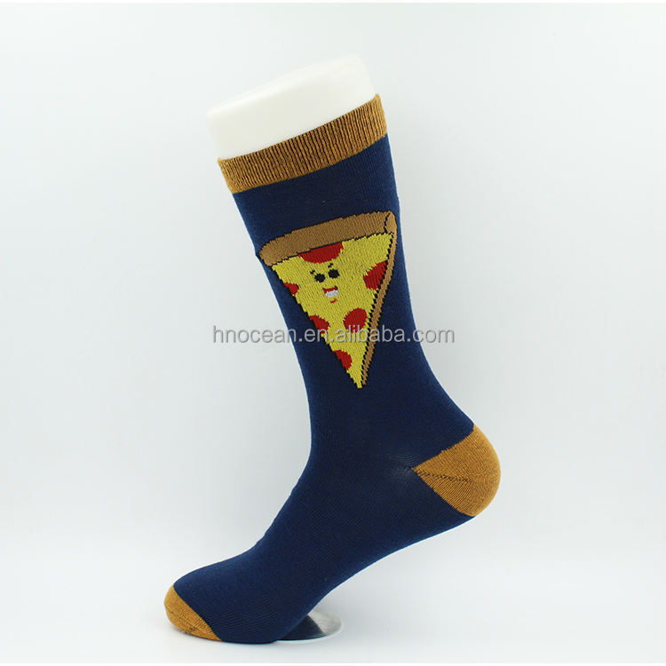 Pattern Blue Color Cartoon Tube Soccer Grip Head Brand Socks for Men