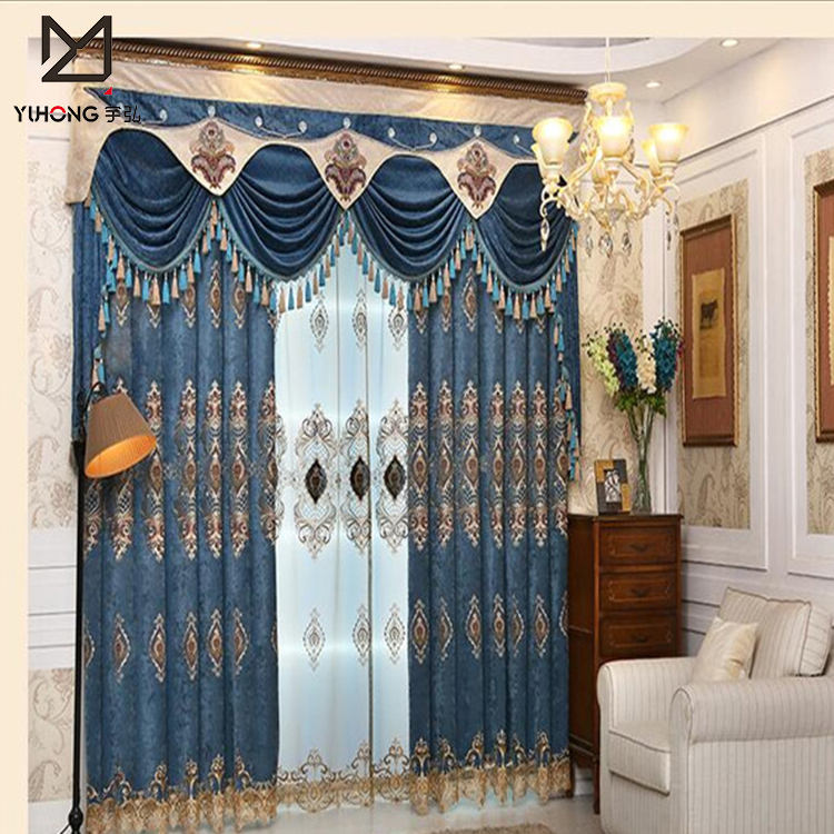 Top luxury drawing room curtain textile