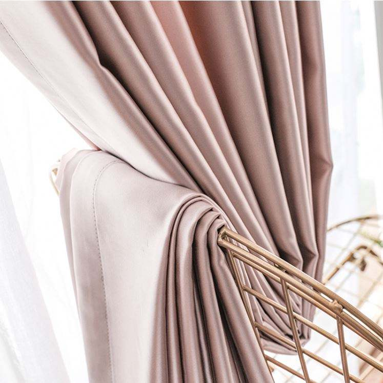 New Product Eyelet Pvc 3 Pass Blackout Curtain Fabric
