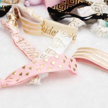 Party Favor Wristband Bracelet Bride Hair Accessories Sets Printed Hair Tie