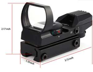 Dcolor 22mm Đường Sắt 1X22X33 Red Green Dot Laser Sight Phạm Vi Reflex Sight