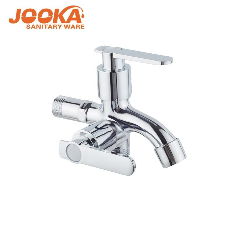 Outdoor garden good polished dual handle laundry jooka washing machine two in one water tap