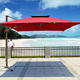 Garden Patio Used European Style LED Parasol Beach Umbrella Square Rome Umbrella for coffee shop