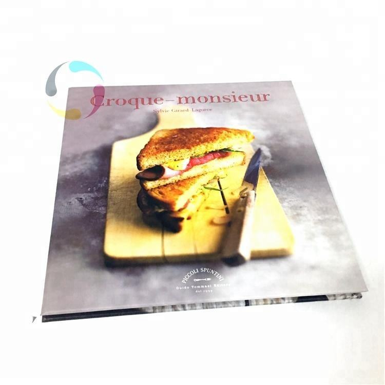 High quality professional full color offset paper hardcover cookbook printing