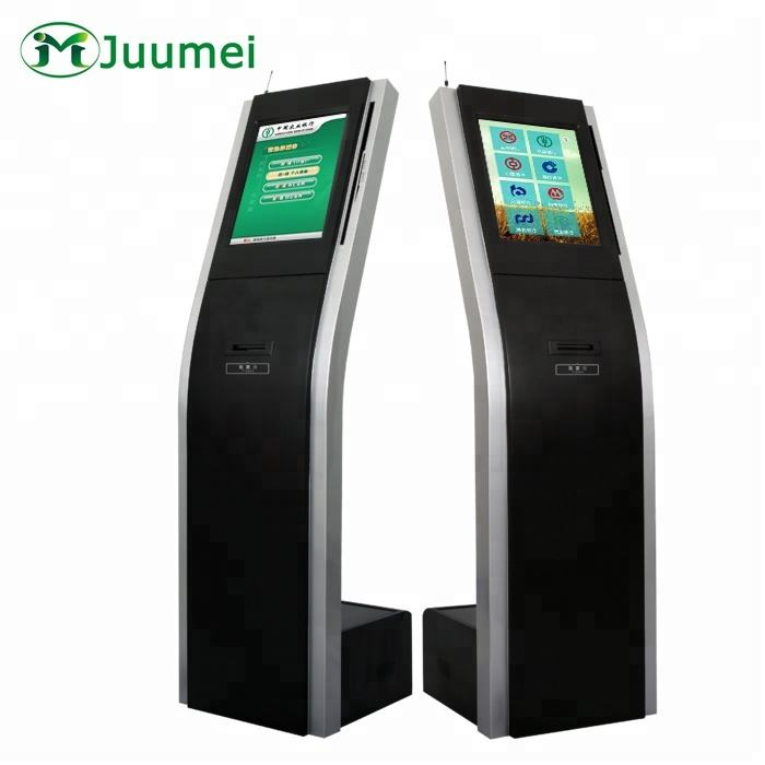 Wireless/Wired Customer Flow Control Floor Standing Touch Screen Queue Ticket Numbering Machine