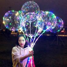 100% Giant round heart Luminous Party Balloon Helium Balloons For Party Wedding birthday Christmas Events Led Bobo Balloons