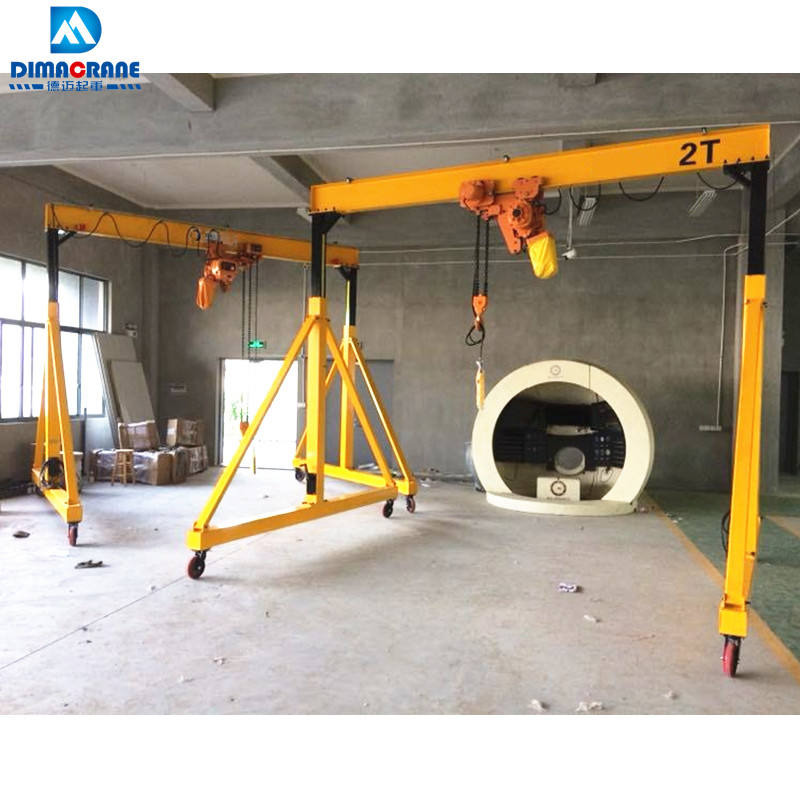 Light duty 4 ton 5 ton 6 ton portable small gantry crane price for sale