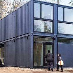 12 meters Office Use prefab villa house luxury/ container house luxury