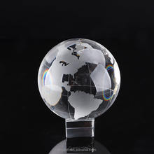Decorative glass ball world globe crystal glass earth globe crystal ball