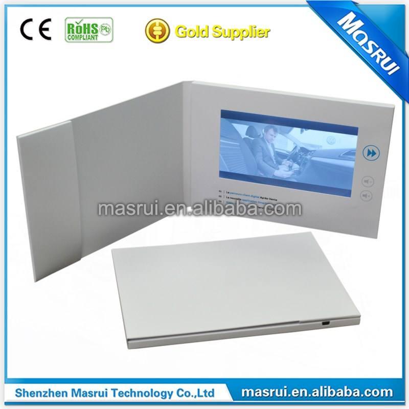 """Fantasia 7.0 """"tela LCD Vídeo <span class=keywords><strong>Brochura</strong></span> Vídeo cartão <span class=keywords><strong>M</strong></span>ódulo para presente do negócio"""