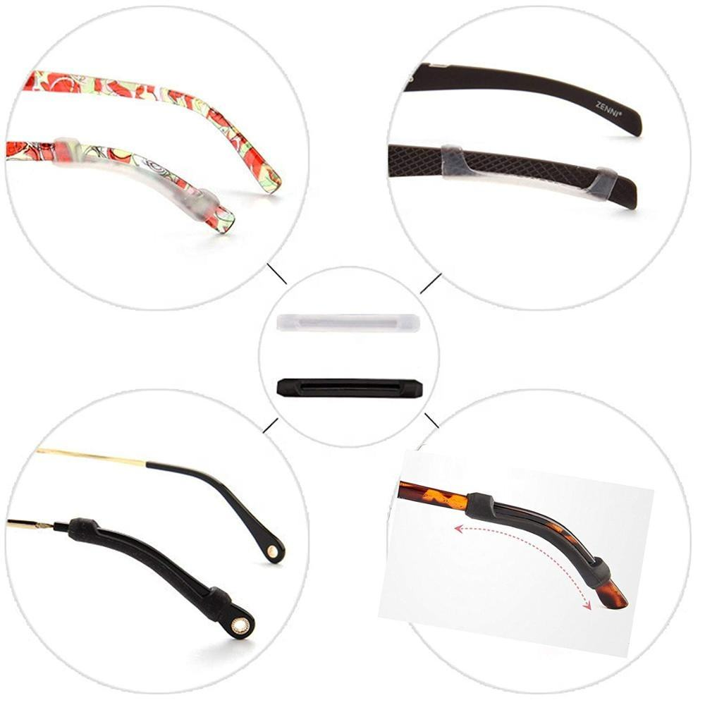 Anti-Slip Elastic Comfort Glasses Soft Silicone Eyeglass Temple Tips protective Sleeve eyewear Retainer