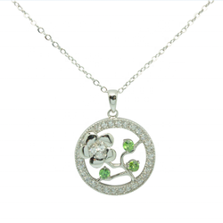 Arthouses Silver Pendant Necklace  Flower Pendant Necklace  Handicraft Jewelry Exquisite