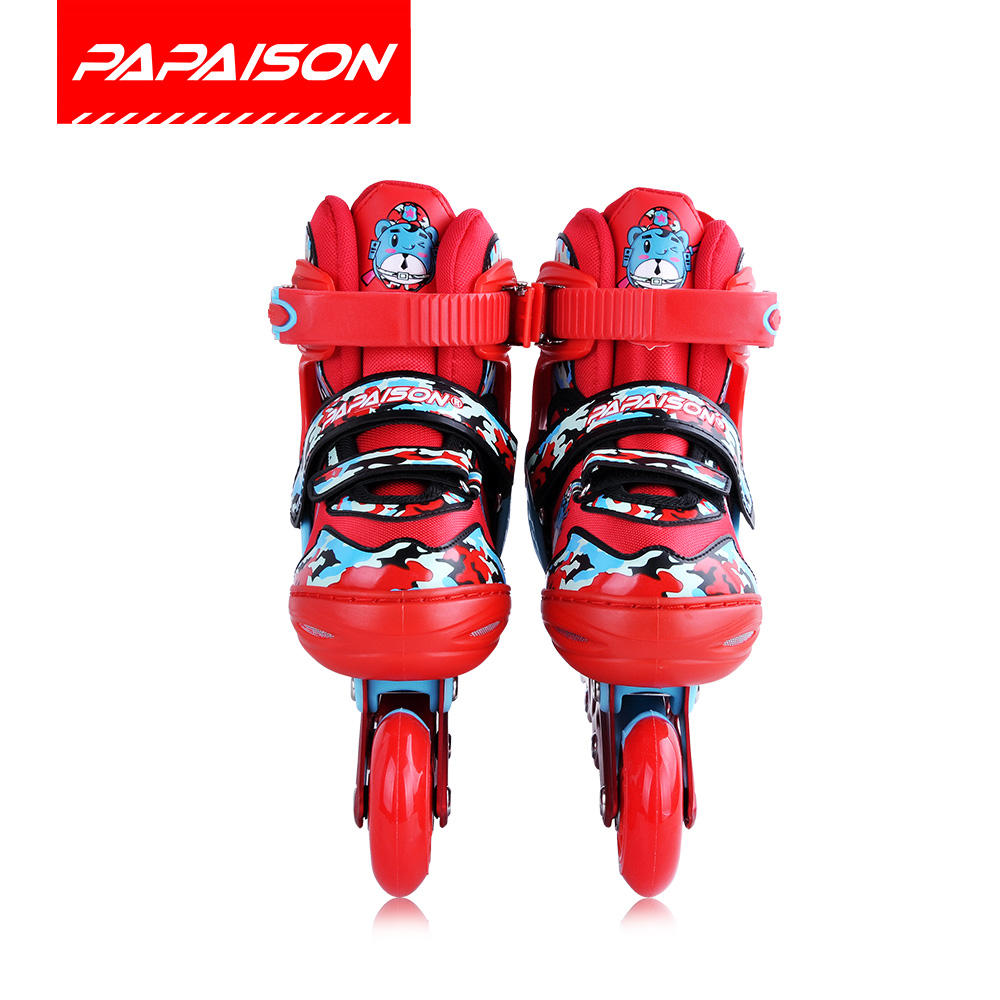 High quality OEM flash light electric wheels inline speed skates