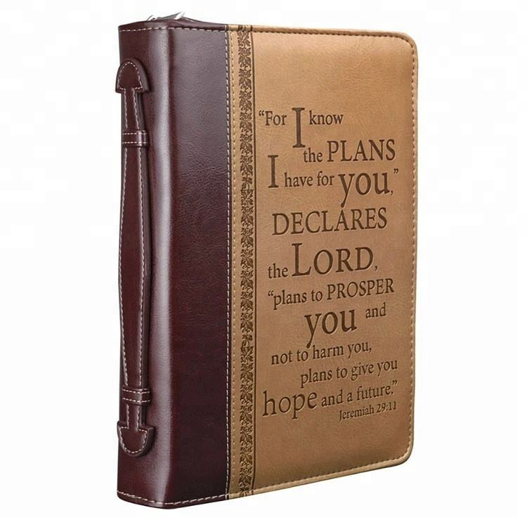 OEM ODM Factory Direct Leather Bible Cover With Zipper