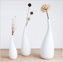 Nordic minimalist home decorations pure white water drops ceramic dry vase decoration creative living room desktop flower arrang