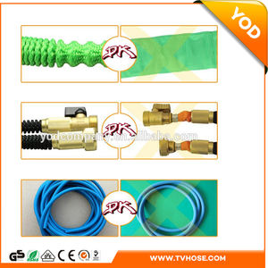 New amazon 2018 solid brass and latex 50ft heavy duty expandable garden hose with popular 8 patterns nozzle