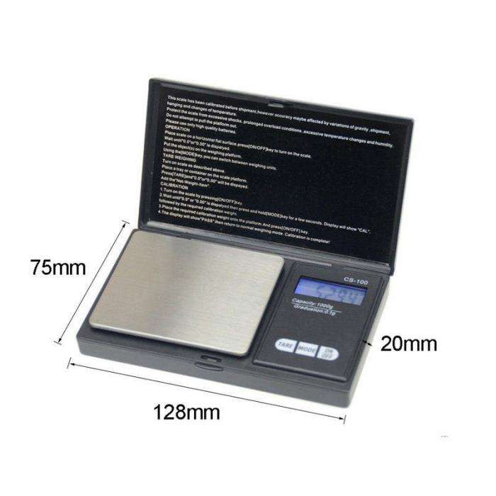 0.1-1000G Mini Precision Digital Scale Weed Coin Jewelry Pocket Tool g/oz/ozt/dwt/ct/gn Units-- For Drop Shipping