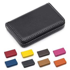 Leather Business Card Holder Case for Men or WomenPocket Credit Name Card Case Holder with Magnetic Shut